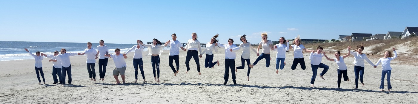 Youth Jumping Beach